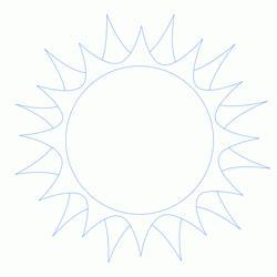 как нарисовать закат солнца
