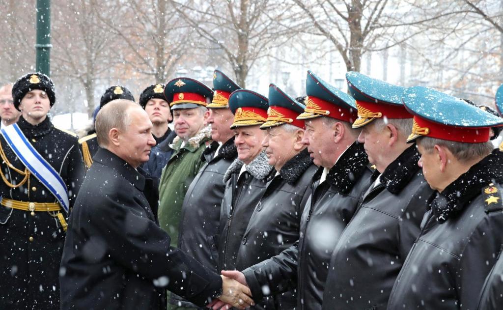 путин с командующими армиями