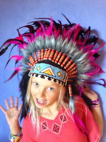 Головной убор индейца детский своими руками 52