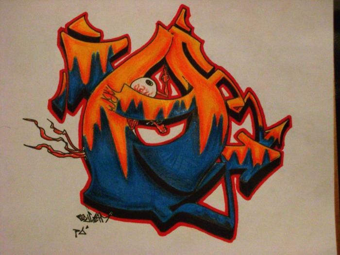 Как научиться рисовать граффити на