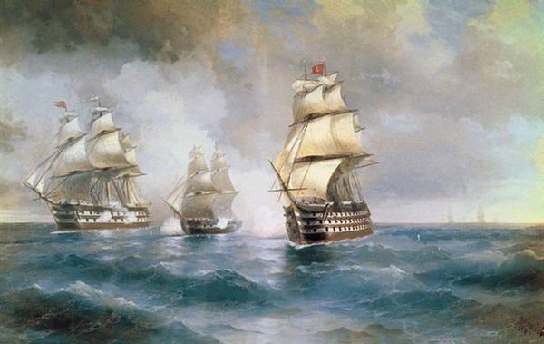 """Оригинал схемы вышивки  """"корабли """". корабли, море корабль парусник пейзаж, оригинал."""