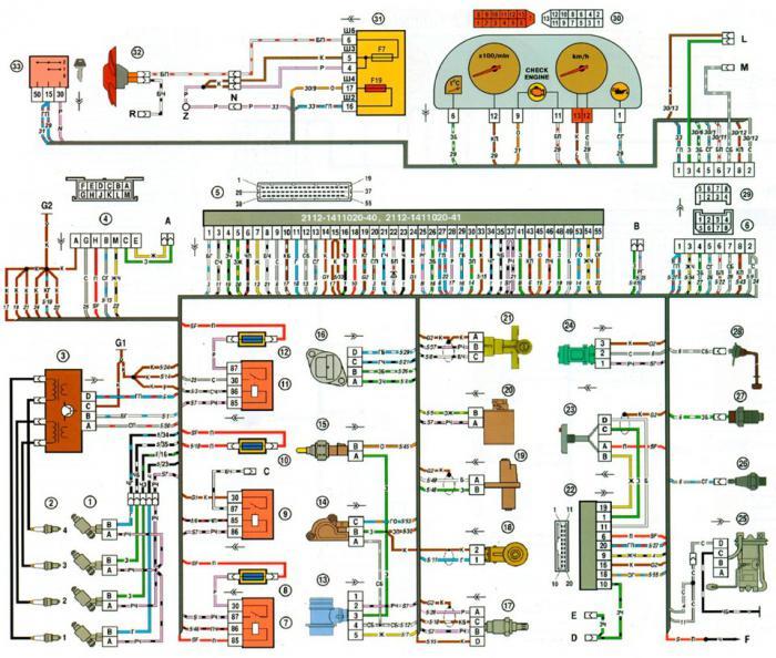 Схема зарядки на ваз 2114 инжектор