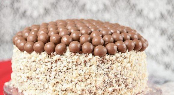 кофейный торт с конфетами