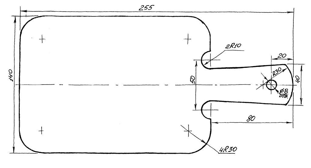 Разделочная доска из дерева своими руками чертежи 58