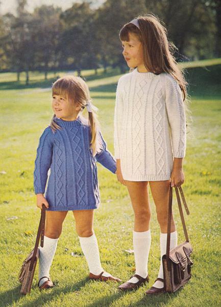 туника спицами для девочки