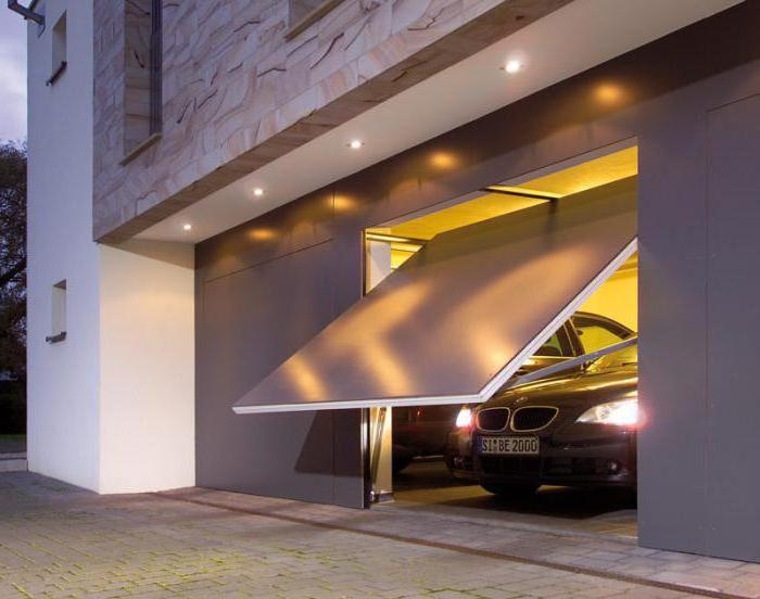 ворота для гаража подъемные размеры