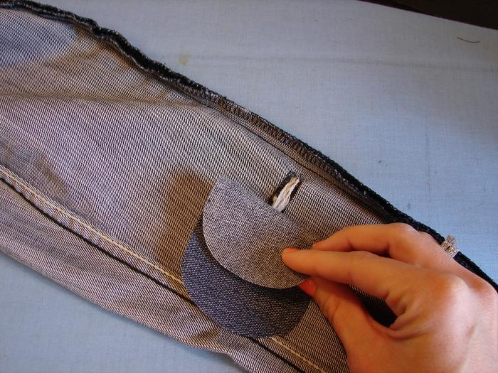 Дырки на брюках своими руками фото 488
