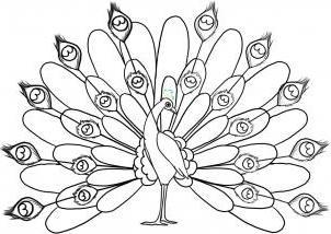 как нарисовать павлина поэтапно карандашом