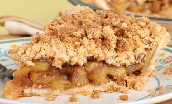 сдобный пирог с яблоками