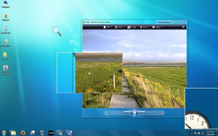 экранная лупа windows 7
