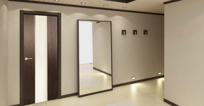 двери венге в светлом интерьере