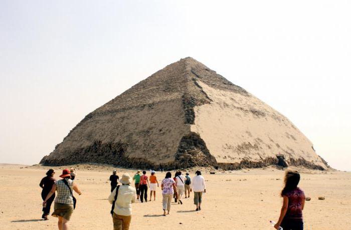 ломаная пирамида в египте