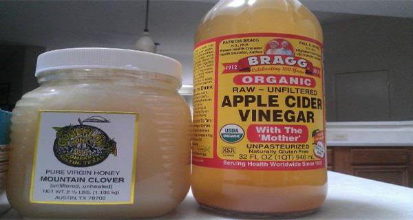 вода мед и яблочный уксус