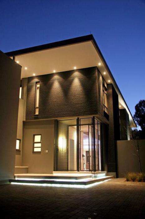 фасадное освещение дома