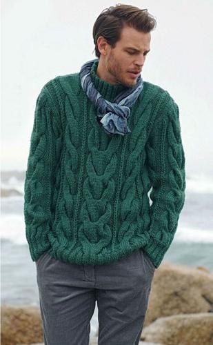 Мужские свитера со жгутами вязаные спицами схемы » Женские советы