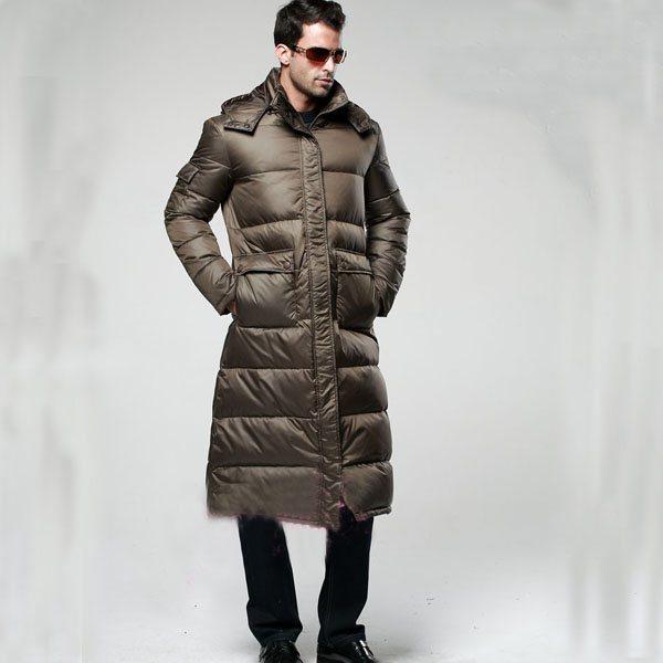зимние длинные пуховики мужские