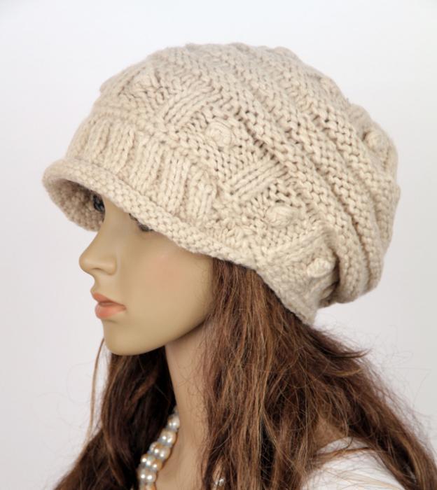 как связать шапку спицами для начинающих
