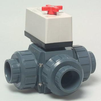 клапан регулирующий трехходовой с электроприводом