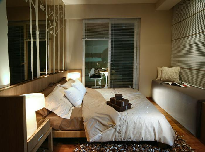 узкая спальня дизайн фото
