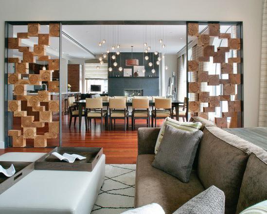 декоративные перегородки для зонирования комнаты