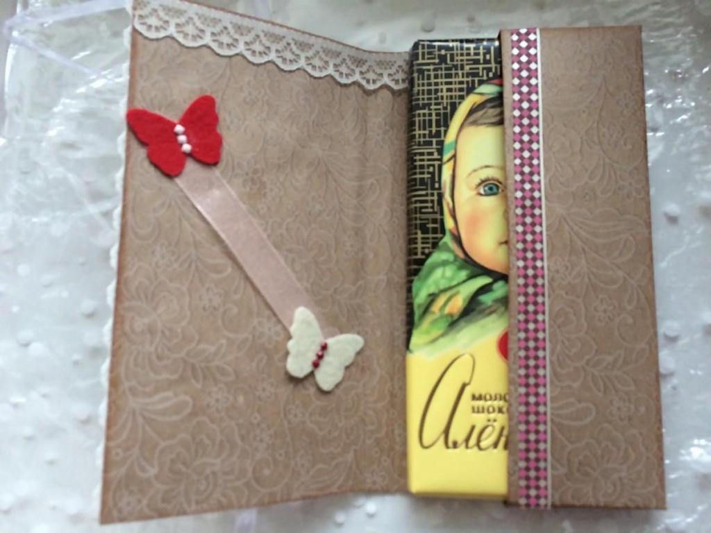 Открытка упаковка для шоколада