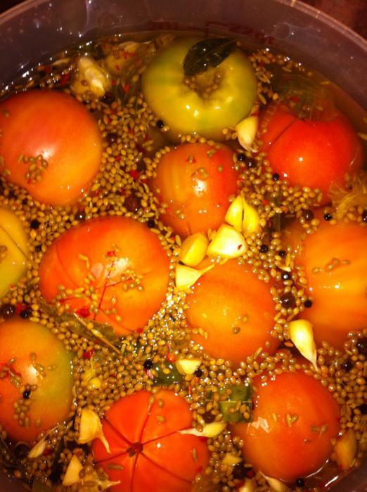рецепт бочковых помидор на зиму