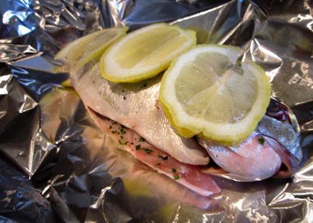 Горячие блюда: рыба