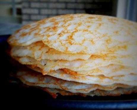 рецепт приготовления бездрожжевых блинов