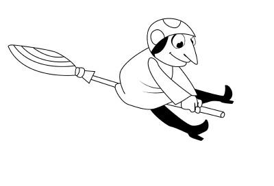 как нарисовать избушку бабы яги