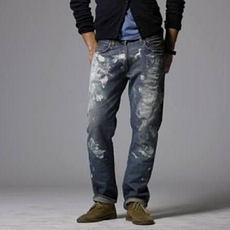 Как с джинсов удалить краску