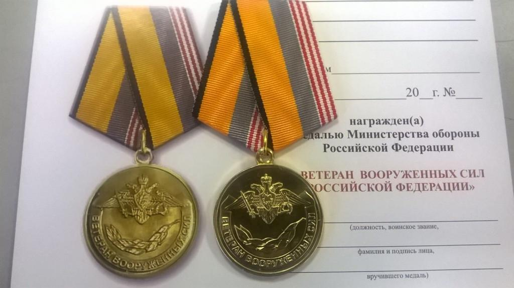 Insignia MO Veteran of the Armed Forces of the Russian Federation
