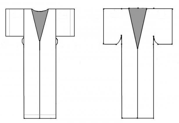 Выкройка халата понадобится тем любительницам шитья, кто хочет. Определяем место отверстия