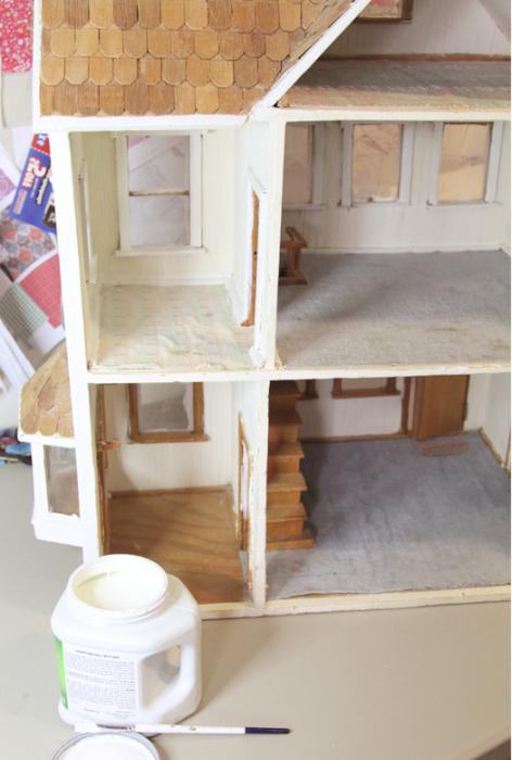 Как сделать лестницу из картона в кукольный домик