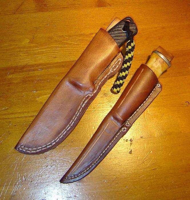 Ножны из кожи для начинающих