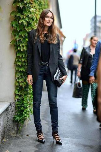 с чем носить джинсы слим