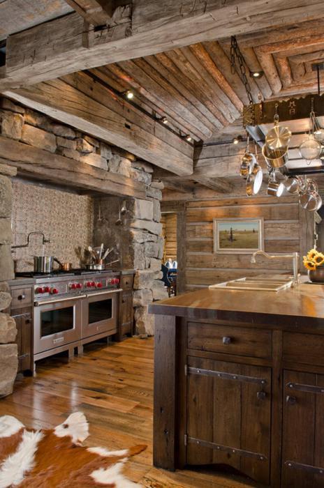 коричневая кухня фото
