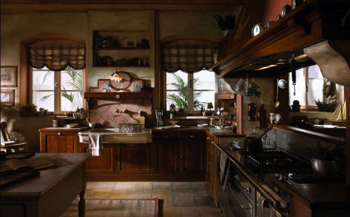 бежево коричневая кухня