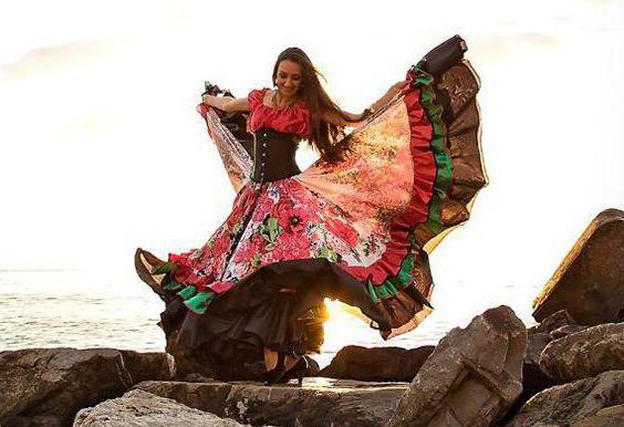 как сшить цыганскую юбку