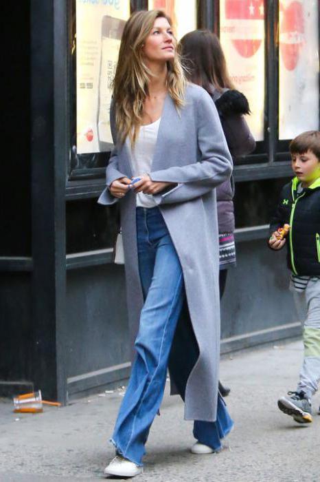 с чем носить джинсы синие