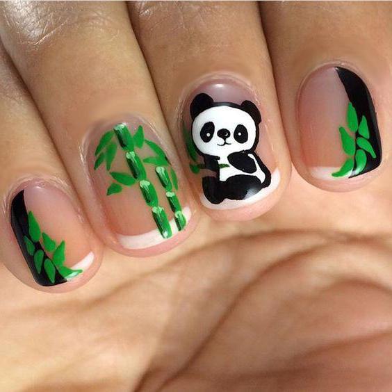 картинки на ногтях рисунок панды являются совершенно