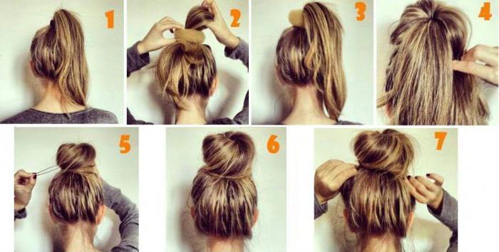 Как сделать небрежный пучок на голове - пошаговые фото 55