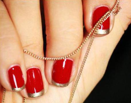 Золотой френч на ногтях: идеи для маникюра