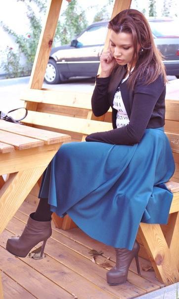 Юбка полусолнце : как сшить и с чем носить