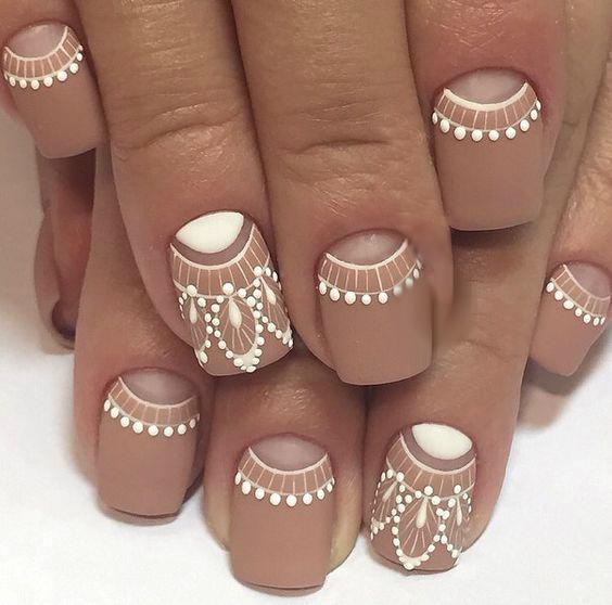 white-beige manicure photo