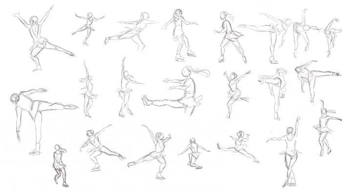 как <strong>как рисуют фигуристку</strong> нарисовать фигуристку поэтапно