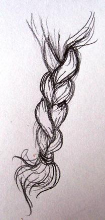 как нарисовать косу карандашом