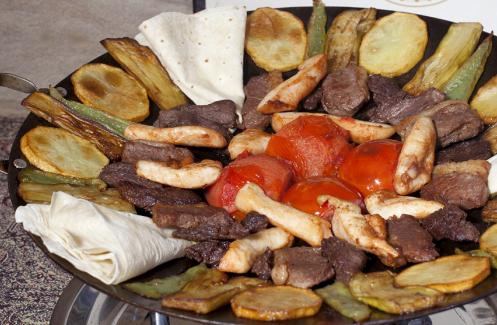 Блюдо картошка с кабачками
