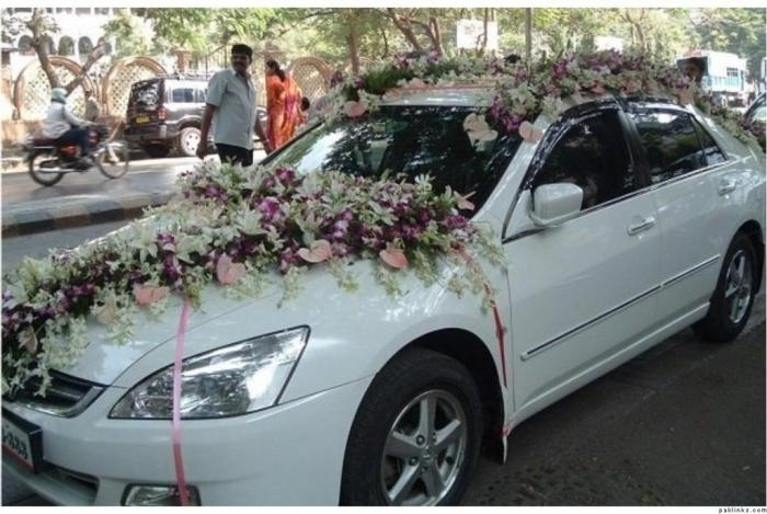 Как украсить машину на свадьбу своими руками: полезные советы