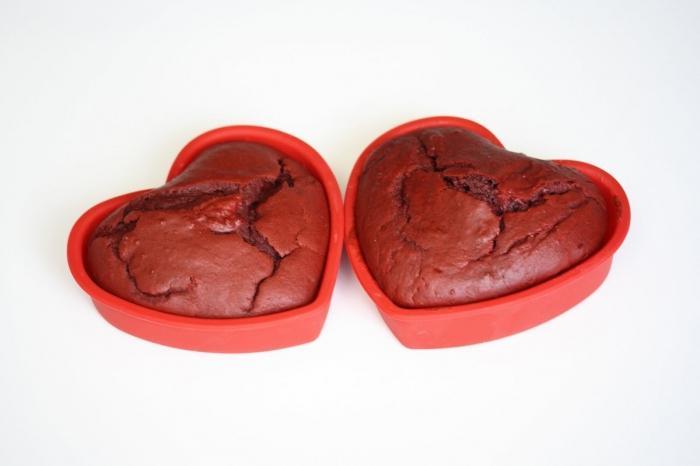 И мятные кексы в силиконовых формах