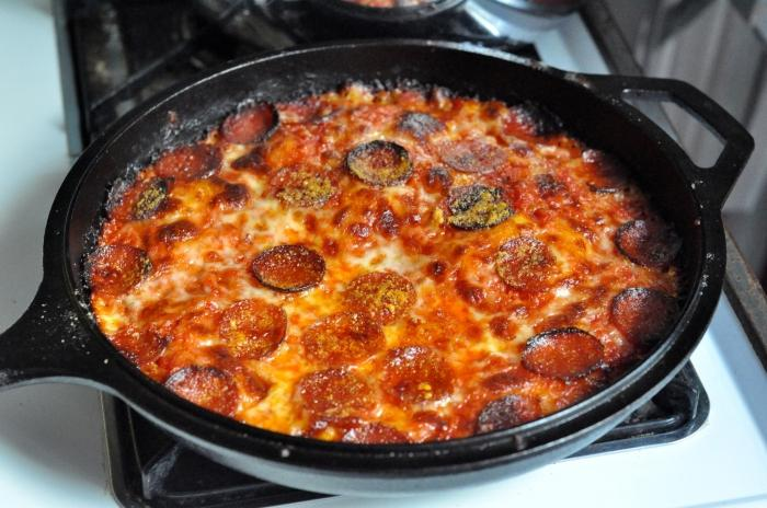 Пицца пятиминутка на сковороде рецепт с фото